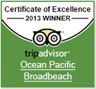 Ocean Pacific Resort Tripavisor Excellence 2013