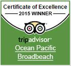 Ocean Pacific Resort Tripavisor Excellence 2015