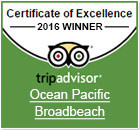 Ocean Pacific Resort Tripavisor Excellence 2016